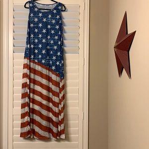 Dresses & Skirts - 💥🆕🆒💥Maxi American flag print dress